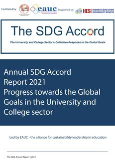 Annual SDG Accord Report 2021 Progress towards the Global Goals in the University and College sector image #1
