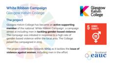 White Ribbon Campaign - Glasgow Kelvin College image #2
