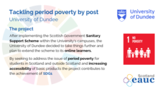 Tackling Period Poverty by Post - University of Dundee image #2