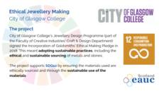 Ethical Jewellery Making - City of Glasgow College image #1