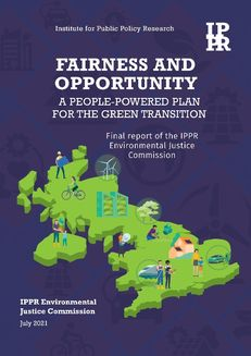Fairness and opportunity A people-powered plan for the green transition