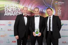 Representatives from Vital Energi and the University of St Andrews collecting the award