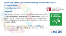 Sport and Fitness Students working with Older Adults in Care Homes - Perth College UHI image #2