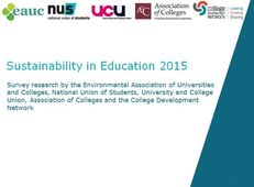 The State of Sustainability in Tertiary Education image #1
