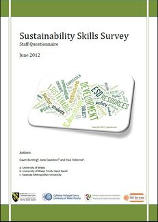 Sustainability Skills Survey Staff Questionnaire image #1