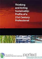 Thinking & Acting Sustainably: Profile of a 21st Century Professional – A Training Manual image #1
