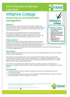 Wiltshire College Case Study - Improving Our Environmental Management image #1